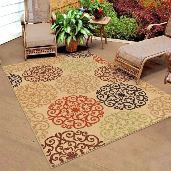 outdoor patio rug RUGS AREA RUGS OUTDOOR RUGS 8x10 INDOOR OUTDOOR CARPET BEIGE LARGE PATIO RUGS ~~ | eBay