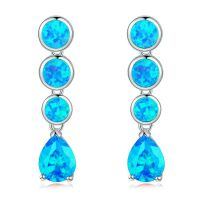 New ! Blue Fire Opal & Aquamarine Women Jewelry Gems ...