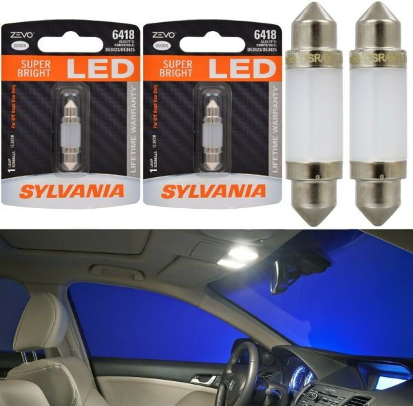 Sylvania Zevo Led 6418 White 6000k Two Bulbs De6423 6423 11005 De3423 3423 7456