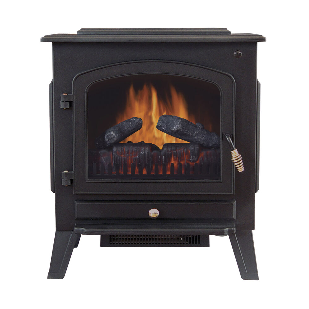 Tahoe 90402200 120Volt Electric Stove Fireplace Heater with Thermostat Control  eBay