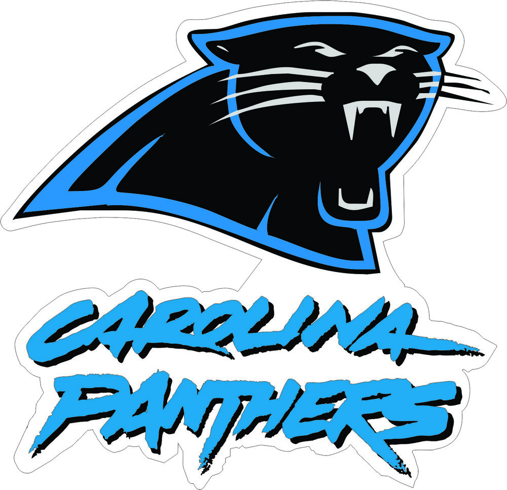 Carolina Panthers NFL Football Wall Decor Sticker Large