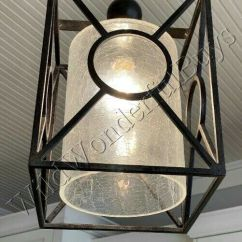 Kitchen Island Chandeliers Silver Cabinets Crackle Glass Pendant Light Black French Farmhouse ...
