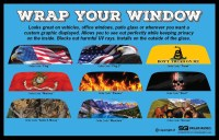 Custom Rear Window Graphic Decal-Tint Print Sticker Truck ...