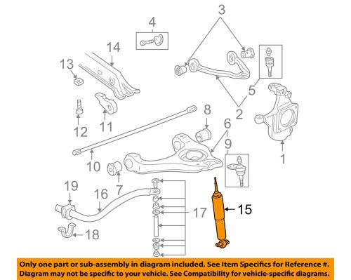 small resolution of details about gm oem front suspension shock absorber 19300054