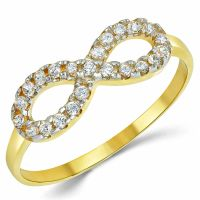 Infinity Ring 100% Solid 10K 14K Yellow White Gold Ring ...