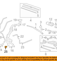 details about honda oem wiper washer windshield washer pump bushing 76842s2kj11 [ 1000 x 798 Pixel ]