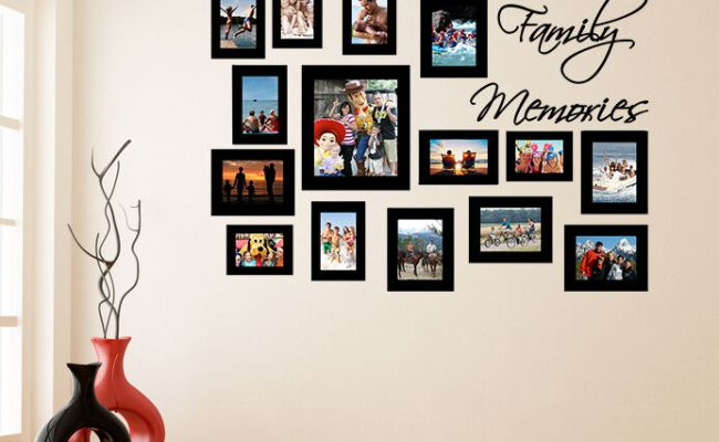 Vinyl Wall Decal Picture Frames Family Memories Photo