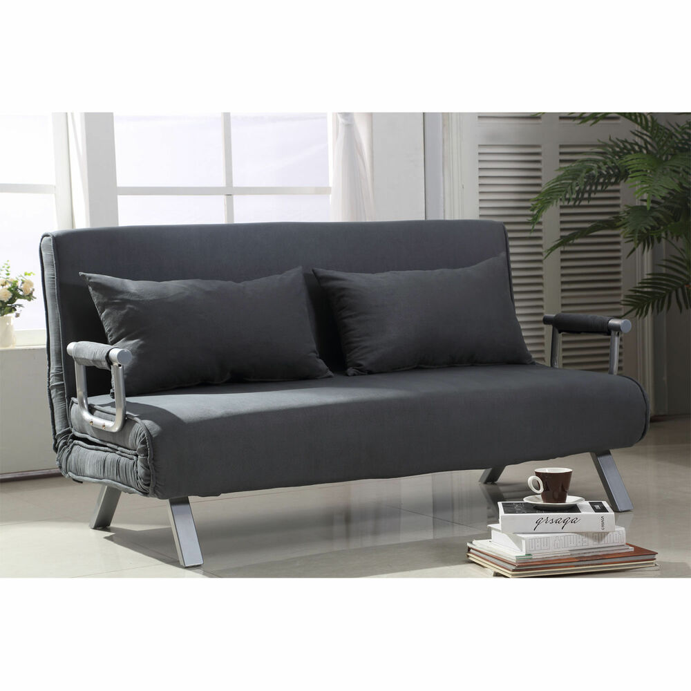 HOMCOM Convertible Sofa Bed Adjustable Sleeper Lounger