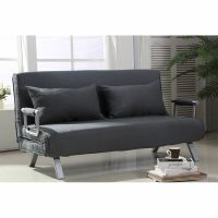 HOMCOM Convertible Sofa Bed Adjustable Sleeper Lounger ...