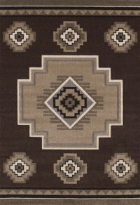 Brown Native American Carpet Nature Print Triangles Lines ...