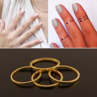 Gold Plated Above Knuckle Womens Rings Midi Band Top