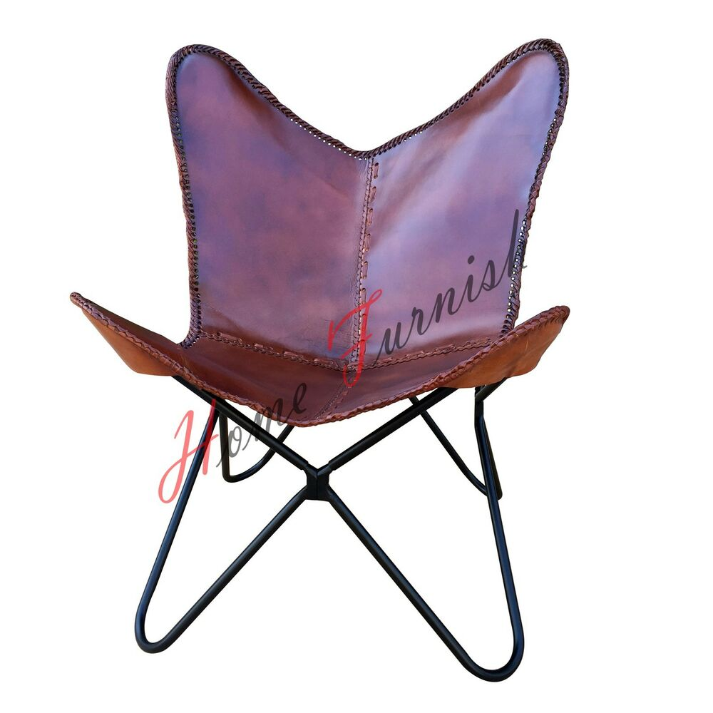 Brown Leather Butterfly Arm Chair Butterfly Cow Leather