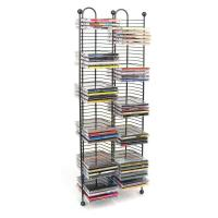 100 CD Tower Stand Media Storage Holder Black Steel Wire ...