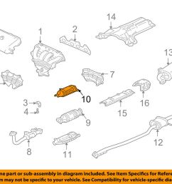 details about honda oem 98 02 accord 2 3l l4 exhaust converter heat shield 18182paal10 [ 1000 x 798 Pixel ]