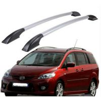 Black+Silver Car Roof Rack Side Rails Bars Fit for Mazda 5 ...