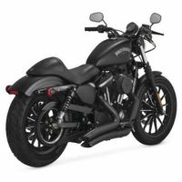 Vance & Hines Black Big Radius Exhaust Pipes Harley 2014