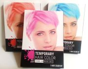 temporary hair color dye pink red