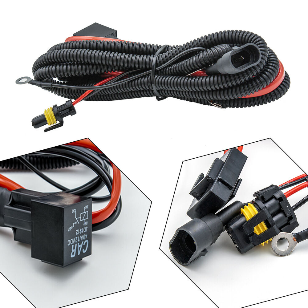 hight resolution of details about 9005 9006 relay wiring harness for hid conversion kit add on fog light led drl