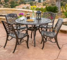 Patio Dining Set Traditional Outdoor Lawn Furniture Garden