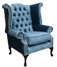 Chesterfield Queen Anne High Back Fireside Wing Chair ...