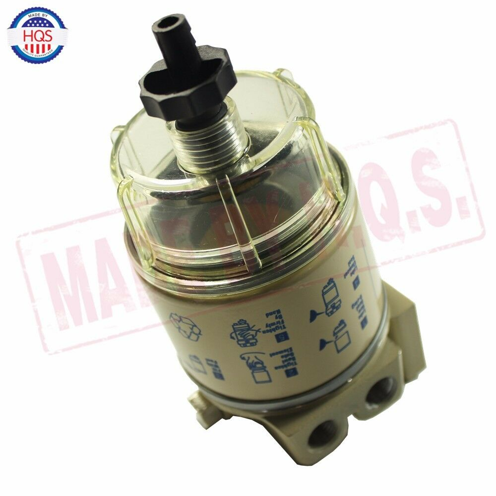 medium resolution of details about for r12t marine spin on housing fuel filter water separator 120at new