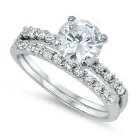Womens 2.05CTW SOLITAIRE 925 Sterling Silver Wedding ...