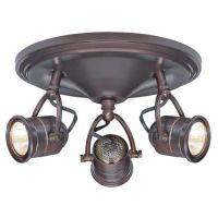 Hampton Bay 3-Light Vintage Track Lighting Ceiling Wall ...
