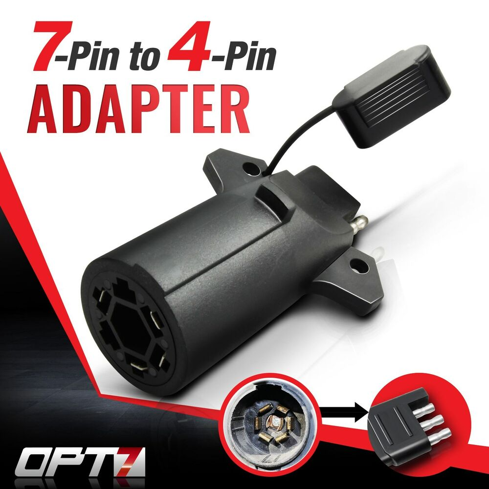 hight resolution of opt7 7 pin to 4 way adapter tow hitch flat blade trailer 7 way round rv blade wiring connector 7 blade trailer connector wiring