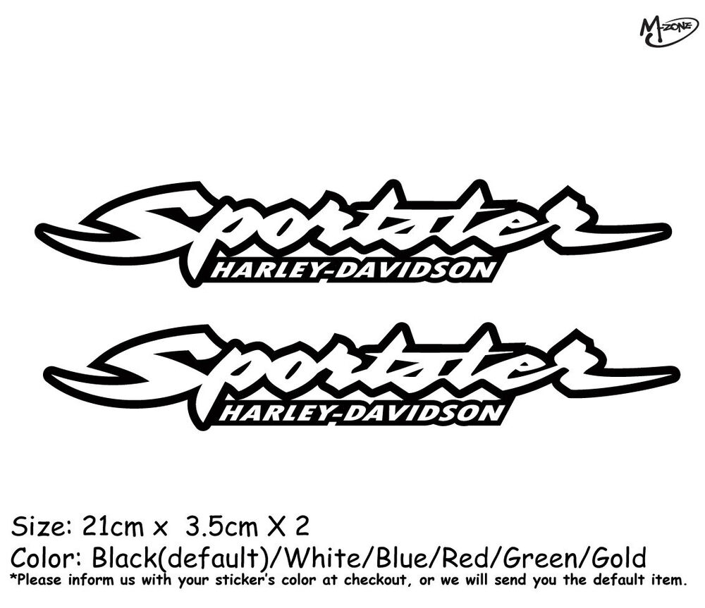 2X Harley Davidson Sportster Motorcycle Stickers