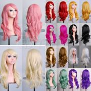 colorful womens long hair wig curly