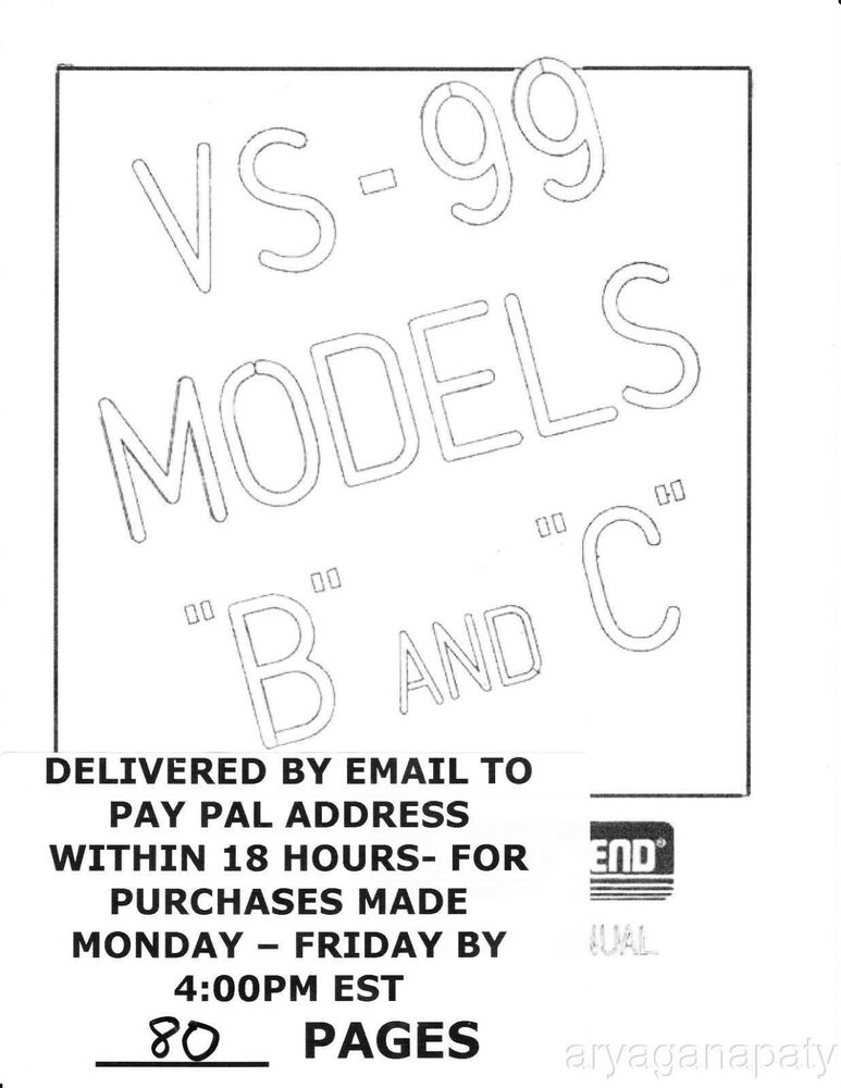 Lektro Vend VS 99 B & C LVC40 (90 pages) PDF sent by email