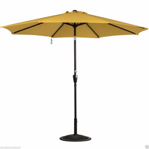 9 Ft Outdoor Market Table Patio Umbrella With Push Button