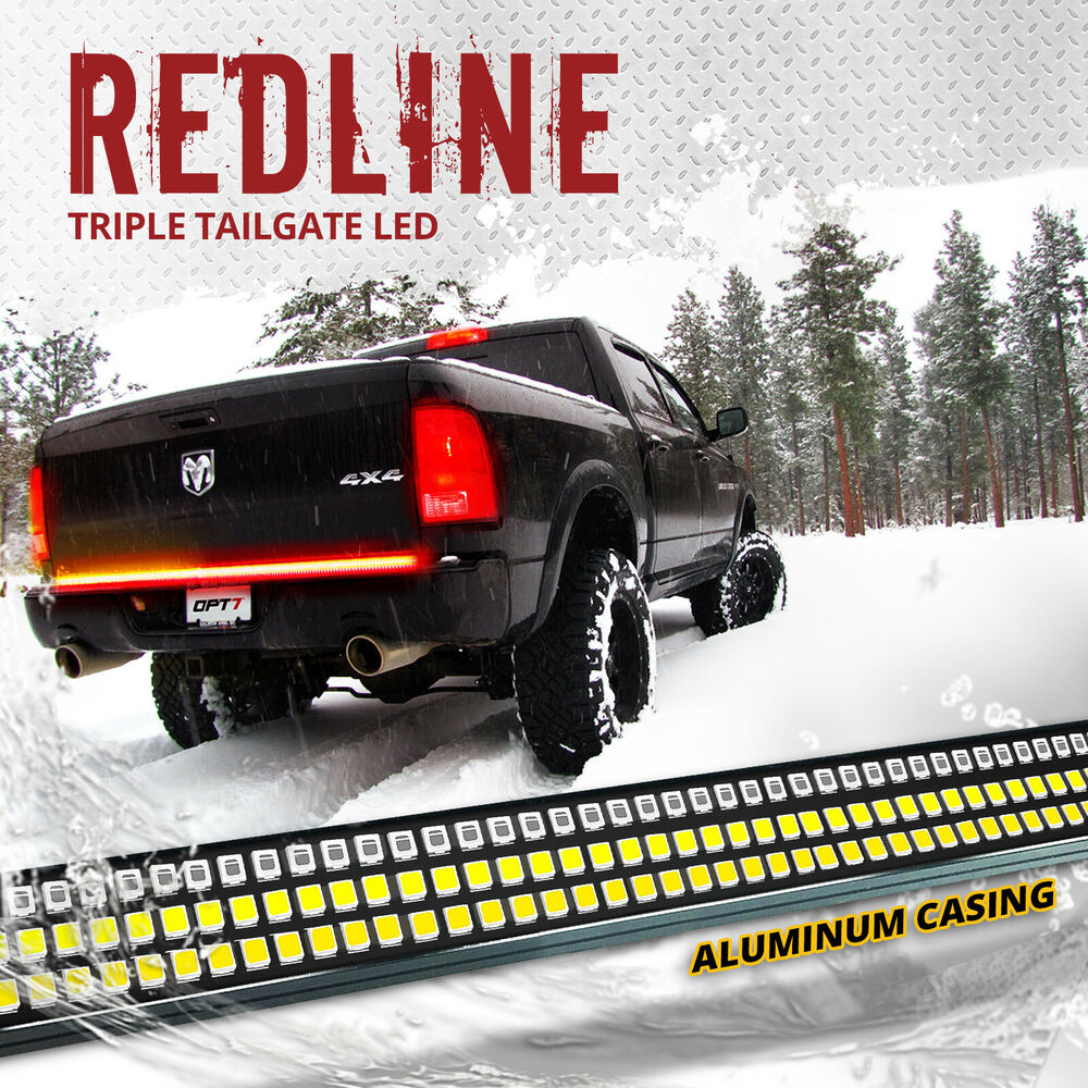 Wiring Diagram For Golf Cart Turn Signals 48 Quot Triple Led Tailgate Bar Sequential Turn Signal Amber