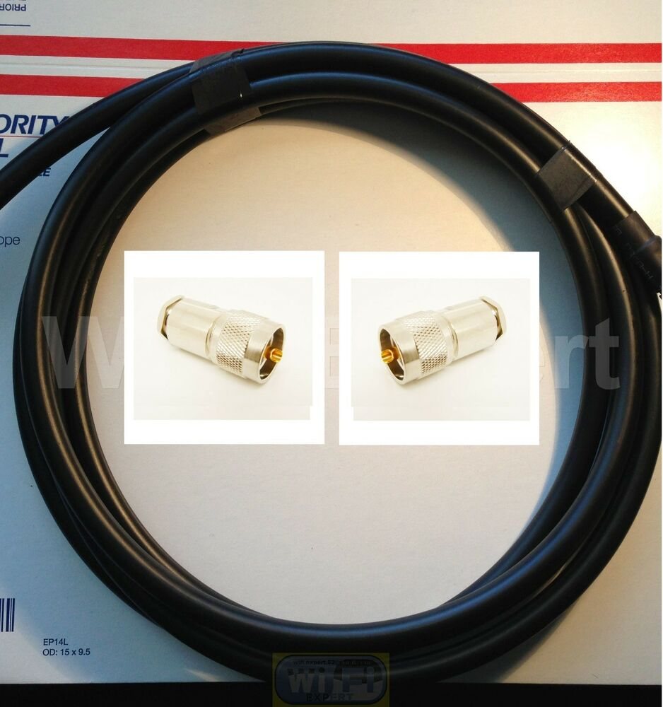 hight resolution of details about times 50 feet lmr400 50 ohm coax cable pl259 cb ham radio antenna wire uhf vhf