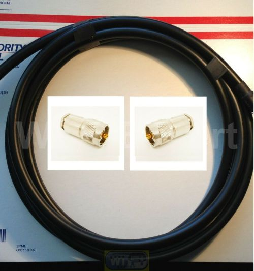 small resolution of details about times 50 feet lmr400 50 ohm coax cable pl259 cb ham radio antenna wire uhf vhf