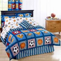 ALL SPORTS Boys Bedding Football Basketball Soccer Balls ...