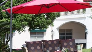 Offset Patio Umbrella Red Outdoor Furniture Cantilever