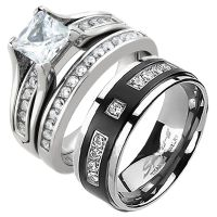 his and hers wedding ring sets his and hers stainless ...