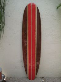 Tropical Decorative Wooden Surfboard Wall Art for a ...