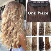 real thick 1pcs clip in 3 4 full