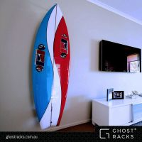 Vertical Wall Mounted SURFBOARD RACKS for twin & quad fins ...