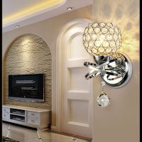 Modern LED Crystal Wall Light Mirror Front Lamp Wall ...