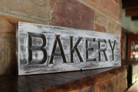 Fixer upper decor farmhouse kitchen sign BAKERY shop ...