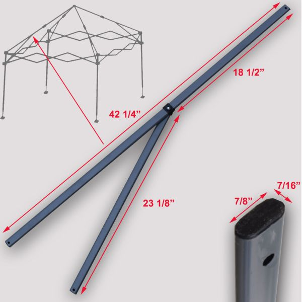 Quik Shade Expedition 10'x10' Instant Canopy 2 Peak Truss Bars Replacement Parts
