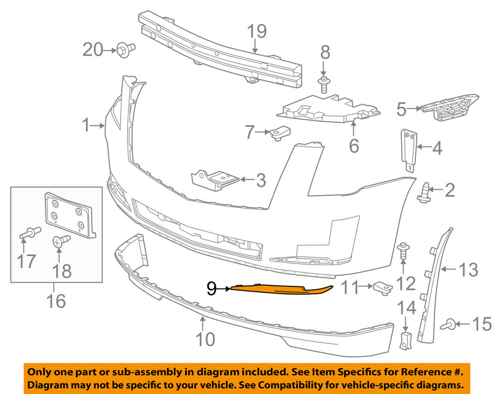 hight resolution of details about cadillac gm oem 15 16 escalade front bumper lower molding trim left 22968428
