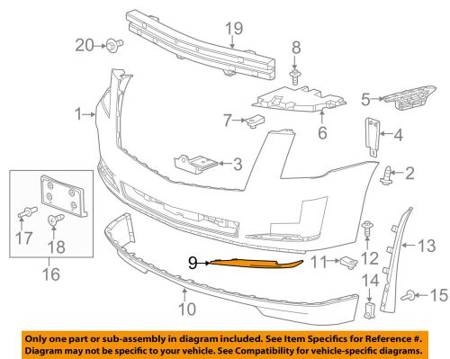 small resolution of details about cadillac gm oem 15 16 escalade front bumper lower molding trim left 22968428