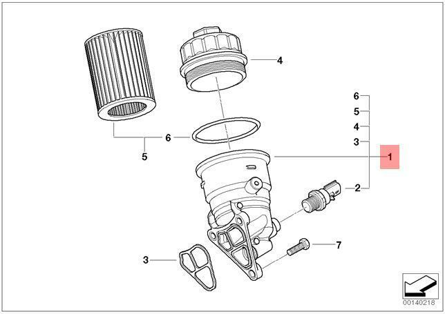 Genuine MINI R50 R52 R53 Coupe Oil Filter Aluminium Cover