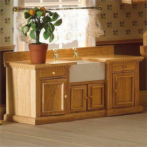 Smallbone sink unit with Belfast sink 1:12 Scale for Dolls