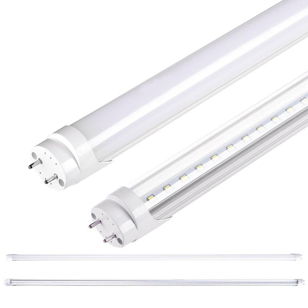 1 10 25 Pack 18W 4FT White T8 LED Tube Light Bulb