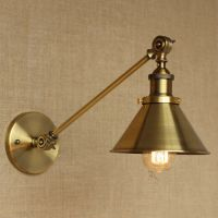 Vintage Industrial Adjustable Arm Light Wall Sconce Retro ...